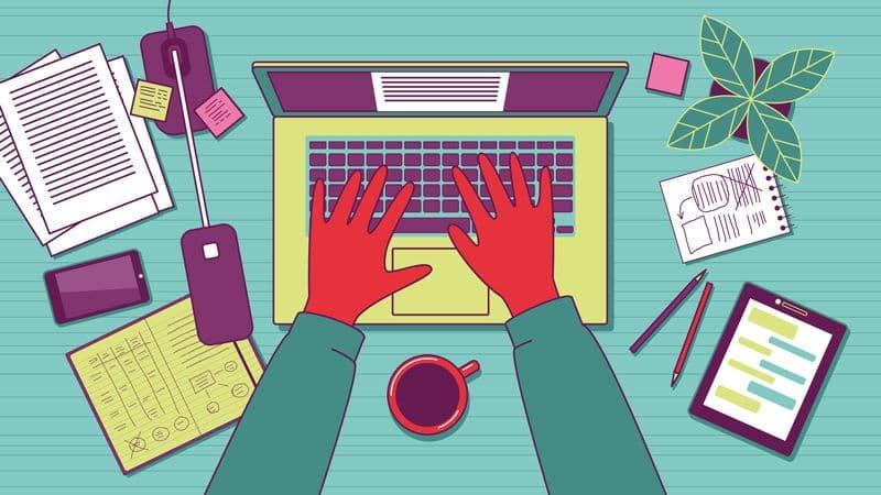 crianção Blog profissional